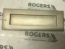 Solid Brass Nickel Finished Door Letterbox  Sprung Letter Plate