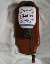 Antique KAFFEE Grinder Blue Delft