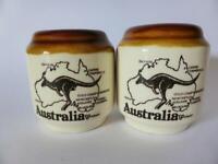 Vintage Australia Pottery Salt and Pepper Shakers, Australian Souvenir, Retro