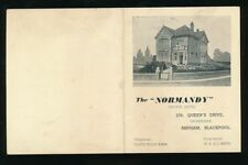 Lancs Lancashire Blackpool BISPHAM Normandy Hotel advert info booklet c1920/30s?