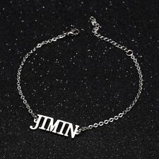 KPOP Bangtan Boys JIMIN Name Letter Stainless Steel Bracelet Adjustable