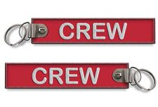 Crew-Embroidered Keyring(Buckle)-RED