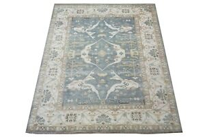 """9X12 Antique-Green Oushak Hand-Knotted Wool Rug Oriental Carpet (9'5"""" x 11'10"""")"""