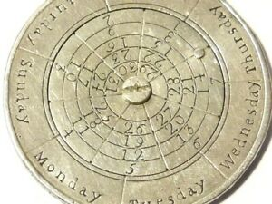 Silver 1781 Perpetual Calendar made from Carolus III Spain 8 Reales Coin RARE
