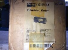 Dayton motor, #3N842, 1/3hp, 1725/1425rpm, 208-220/440v, FR-42CZ, with warranty
