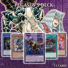 PEGASUS'S STARTER DECK 33   Thousand-Eyes Restrict Toon Dark Magician YuGiOh