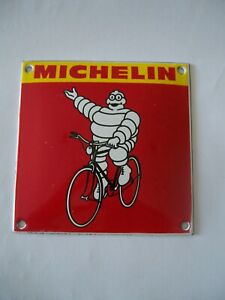 STOVE ENAMEL MICHELIN MAN BIKE BADGE PLAQUE SIGN MAN CAVE GARAGE GOOD QUALITY