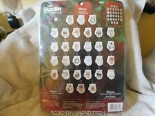 """BUCILLA 30 PIECE MITTENS ORNAMENT COUNTED X STITCH KIT """" SO CUTE"""" *UNOPENED*"""