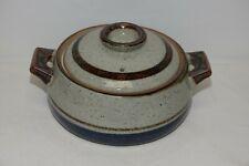 Vintage Art Pottery Stoneware Glazed Dutch Oven Crock Roaster Casserole