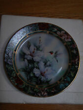 Porcelaine Plate by Knowles Lena Liu Hummingbird Treasures Nib