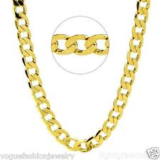 24K Yellow Gold Filled Cuban Curb Link Chain Mens Necklace 60cm*10mm Jewelry