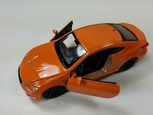 "Lexus RC F Die cast 1:34 Welly Collectible Pull Back Action 4.75"" Orange"