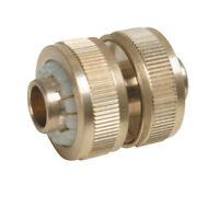 """Raccord de reparation ou connecteur en laiton pour tuyaux 1/2"""" tuyau d'eau"""