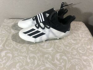 Adidas Adizero Men's Football Cleats White / Black Size 9.5 EF7610 NEW with Tags