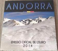 Coffret Andorre 2014 série euro BU FDC 1 cent à 2 euros Andorra