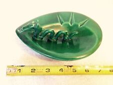 Grace Doyle Ceramics Green Dragon Serpent Decorative Ashtray R77 Signed Canadian