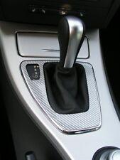 BMW E90 E91 E92 3 Serie CARBON ARGENT CHROME  cadre boite vitesse automatique