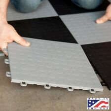 Garage Floor Tiles Coin Interlocking Mats Gray Grey Basement Flooring 12x12