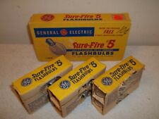 Vtg Package Of 12 General Electric GE Sure-Fire #5 Camera Flashbulbs