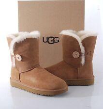 UGG Australia Bailey Button II Sheepskin Boots Women's 9 MED 1016226 Chestnut