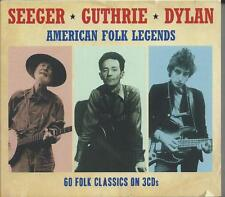 Pete Seeger / Woody Guthrie / Bob Dylan - American Folk Legends (3CD) NEW/SEALED