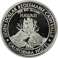 "$7 (SEVEN) DOLLAR .999 FINE SILVER SAM BOYD'S CALIFORNIA HOTEL ""HAWAII"" (070520)"