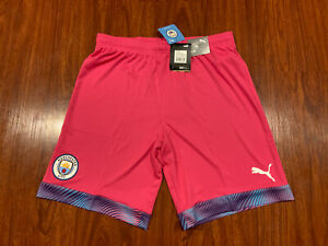 2019-20 Puma Mens Manchester City Pink Player Issue Soccer Jersey Shorts Large L