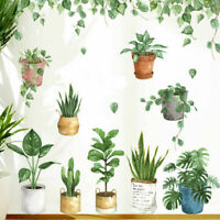 Pot Plants Removable Wall stickers Wall Decal Kids Room Home Decor Art Mural DIY