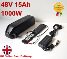 48V 15Ah 1000W Hailong-3 Lithium Samsu Li-ion Cell e-Bike Battery USB UK Charger
