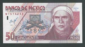 MEXICO 50 PESOS 2000   P- 112 UNC