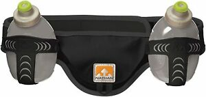 Nathan Speed 2 Hydration Waist Pack Belt, 2 x 10oz. Black, XL only