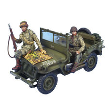 NOR065 US 101st Airborne Willys Jeep with Driver, Scout and Map by First Legion