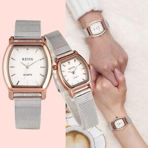 KEVIN Watch Couple Dress Watches Men Women Analog Quartz Wristwatch Steel Band