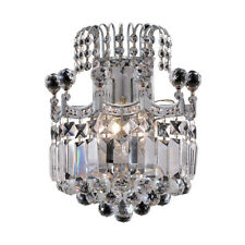 2 LIGHT ASFOUR CRYSTAL EMPIRE WALL SCONCE LIVING OR DINING ROOM BEDROOM HALLWAY