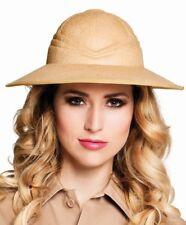 Tropenhelm Safari Hut Forscher Entdecker Kostüm Zubehör Dschungel Soldat Outfit