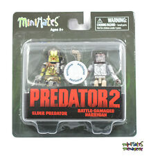 Predator Minimates TRU Toys R Us Wave 2 Elder Predator & Battle Damaged Harrigan