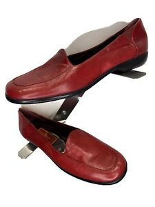 Cole Haan  Womens Red Leather Loafers Black Size 8.5 AA