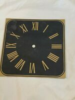 "Clock Dial Brass Tone Square roman Numerals 8 1/4"" x 8 1/4"" CLOCK MAKING"
