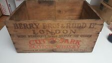 VINTAGE Wooden Scotch Crate CUTTY SARK New York & London Variation RARE IL BERRY
