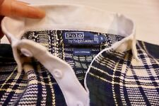 Vintage Ralph Lauren Polo 100% Cashmere Long Sleeve Plaid Rugby Sweater Shirt S