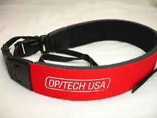 OPTECH Camera NECK STRAP Neoprene, quick release Red Fashion Strap #4005