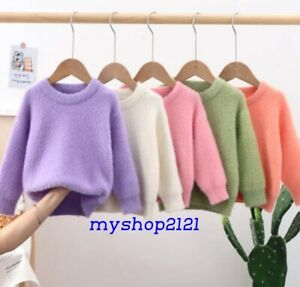 Girls Top Sweater Christmas Knitted Warm Autumn Winter Long Sleeve Age 2-12 year