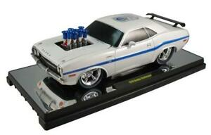 1970 Dodge Challenger Ground Pounders (75th Anniversary) White 1:18 Scale By M2