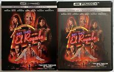 BAD TIMES AT THE EL ROYALE 4K ULTRA HD BLU RAY 2 DISC SET + RARE OOP SLIPCOVER