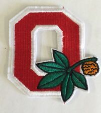 "Ohio State Buckeyes Vintage Embroidered Iron On Patch  3"" X 3  ""  Nice"