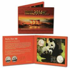 2011 & 2014 China 1 oz Silver Panda | 2 Coin Set | Designer Autographed Booklet