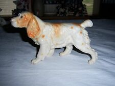 Vintage White And Tan Cocker Spaniel Figurine