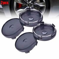 2x 60x58mm Universal Carbon Fiber Surface Auto Wheel Center Hub Cap' Cover BlaEW