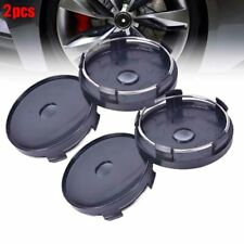 2x 60x58mm Universal Carbon Fiber Surface Auto Wheel Center Hub Caps Cover VU