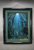 Thomas Deir Christ of the Deep Art Print Lithograph Hawaii Artist Mermaid Angels